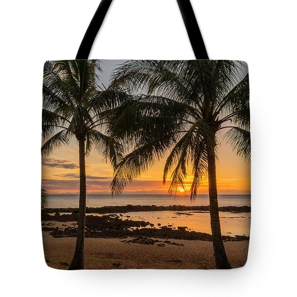 Sharks Cove Sunset 4 - Oahu Hawaii Tote Bag