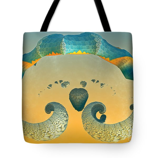 Tote Bag featuring the digital art Sharks Mouth by Melissa Messick