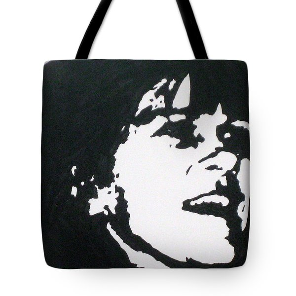 Tote Bag featuring the drawing Sharon Stemple by Robert Margetts
