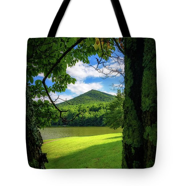 Sharp Top Through The Trees Tote Bag