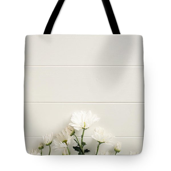 Shasta Daisies Cropped 2 Tote Bag