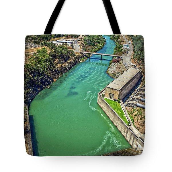Shasta Lake Dam Tote Bag