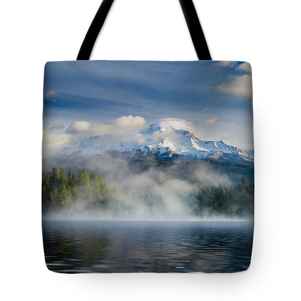 Shasta Mists And Morning 2 Tote Bag