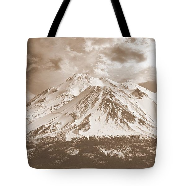 Tote Bag featuring the photograph Shasta Mt by Athala Carole Bruckner