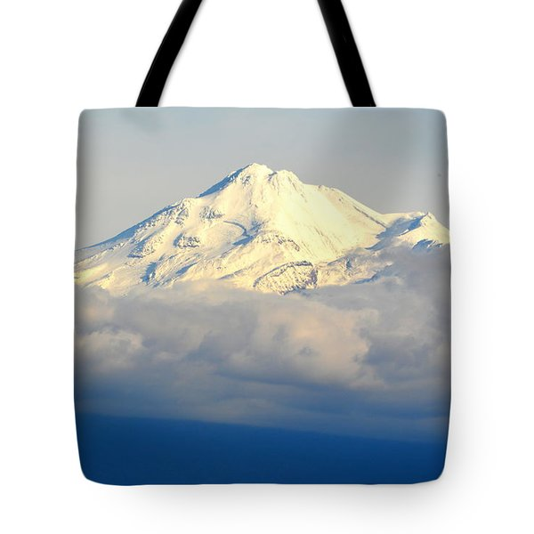 Shasta Near Sunset Tote Bag