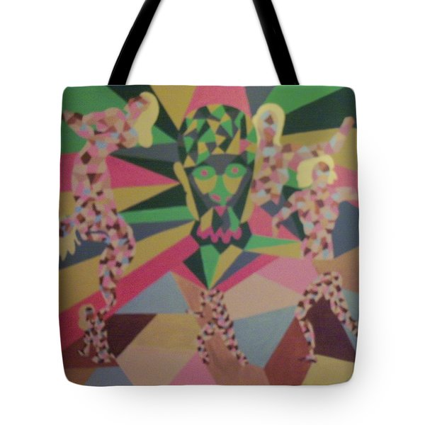 Tote Bag featuring the painting Shattered by Erika Chamberlin