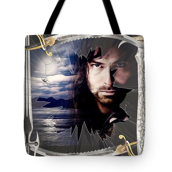 Shattered Kili With Swords Tote Bag