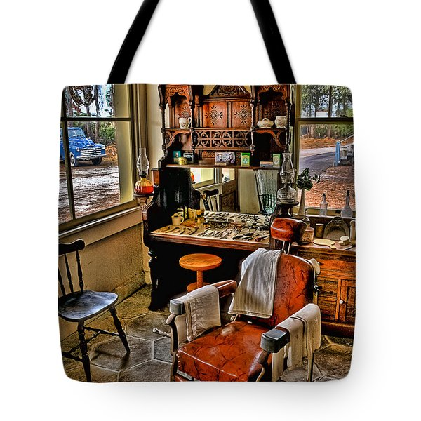 Shave And A Haircut 2 Bits Tote Bag by Michael White
