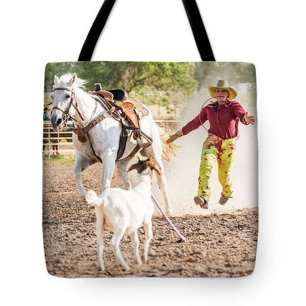 Shawnee Sagers Goat Roping Competition Tote Bag
