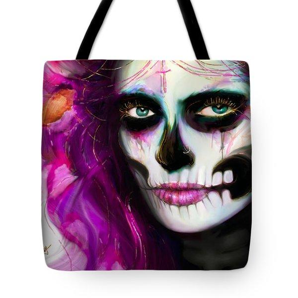 She, Dia De Los Muertos Tote Bag