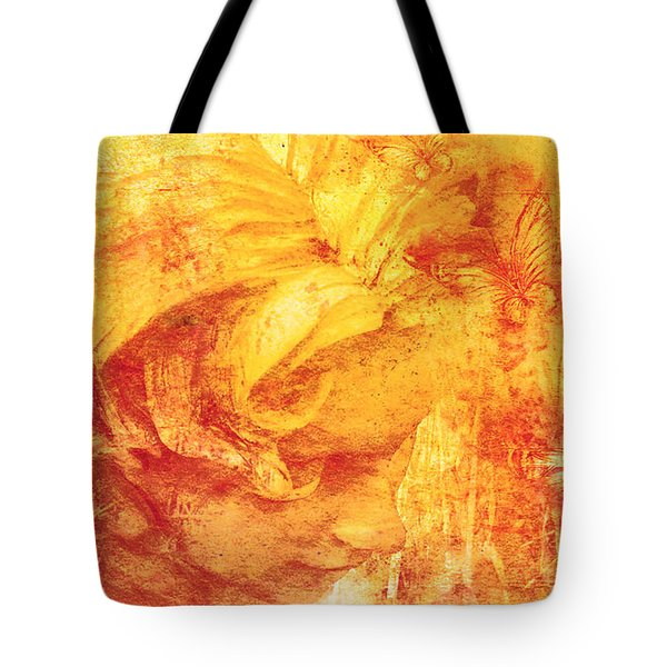 Tote Bag featuring the digital art She Dreams 2017 by Kathryn Strick