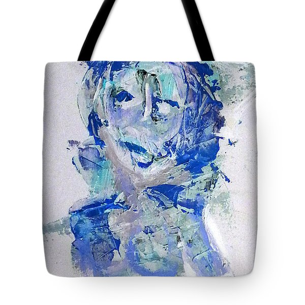 She Dreams In Blue Tote Bag