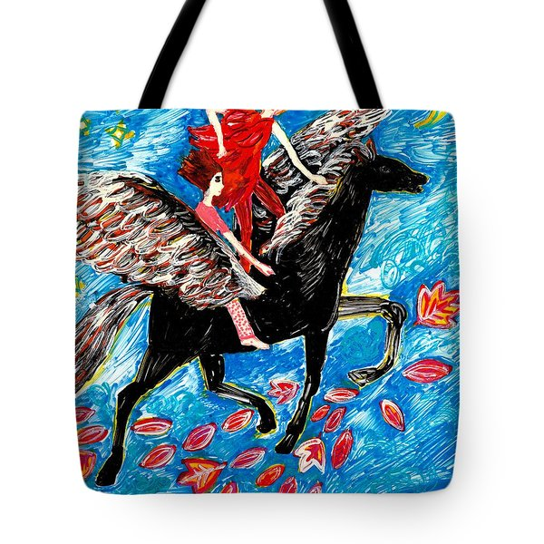 She Flies With The West Wind Tote Bag by Sushila Burgess