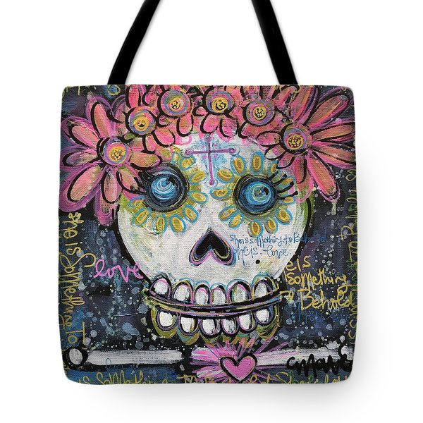 Tote Bag featuring the painting She Is Something To Behold by Laurie Maves ART