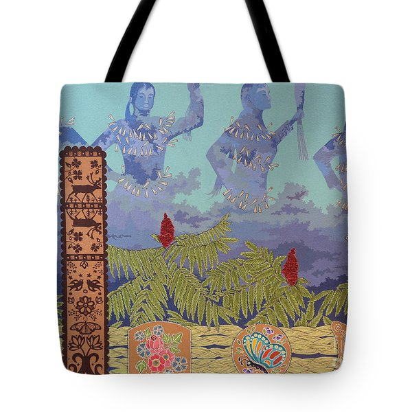 Tote Bag featuring the painting She Makes Rain by Chholing Taha
