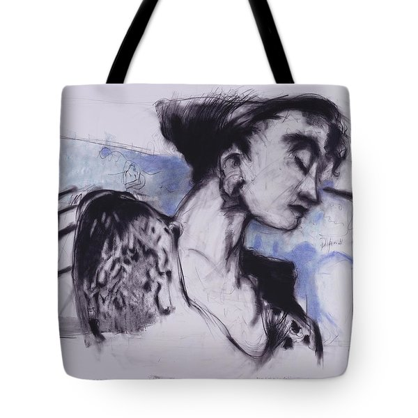 She Pauses Tote Bag by Mykul Anjelo