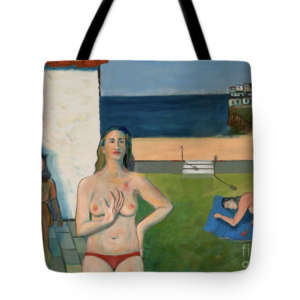 Tote Bag featuring the painting She Walks In Beauty by Paul McKey