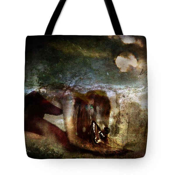 She Wolf  Tote Bag by Perennial Dreams Studios
