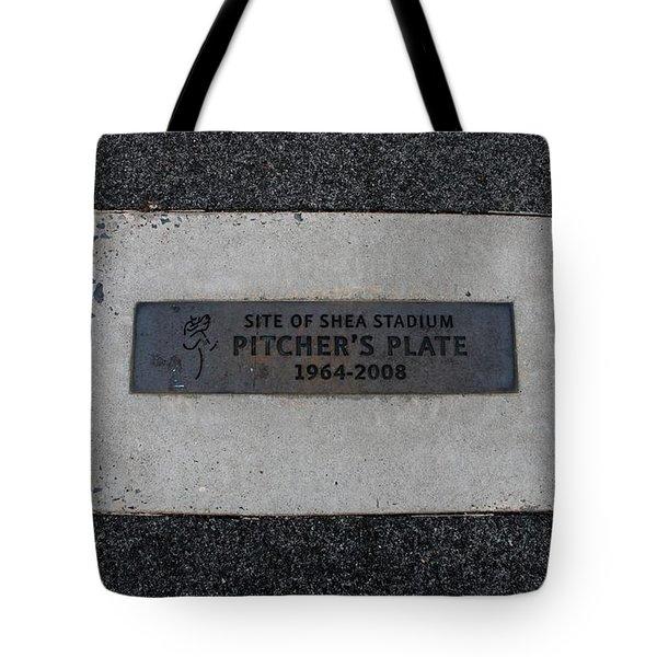 Shea Stadium Pitchers Mound Tote Bag