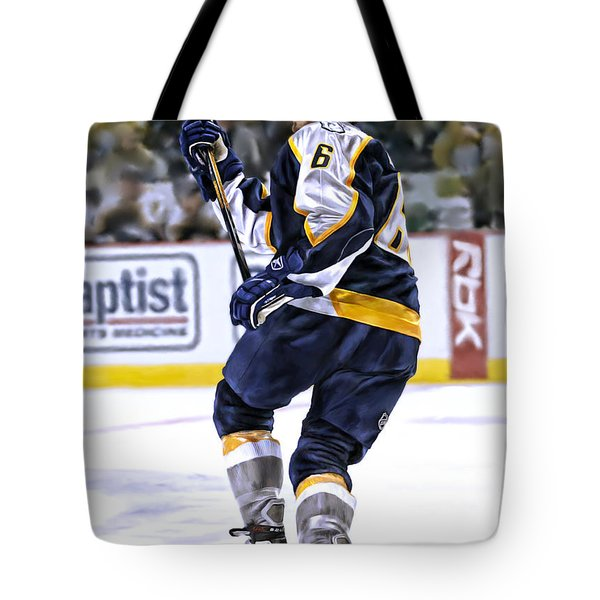 Tote Bag featuring the photograph Shea Weber by Don Olea