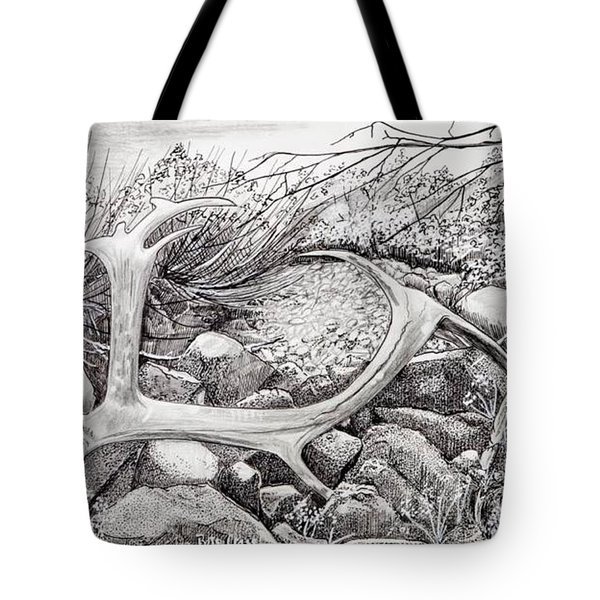 Shed Antler Tote Bag