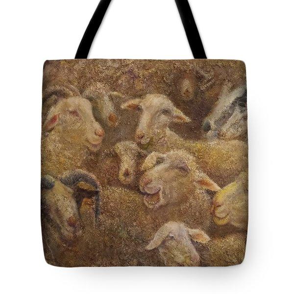 Sheep And Goats Tote Bag