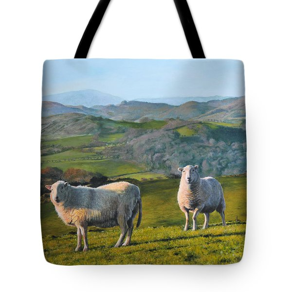 Sheep At Rhug Tote Bag