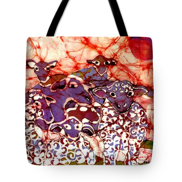 Sheep At Sunset Tote Bag