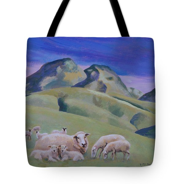 Sheep At Sutter Buttes Tote Bag