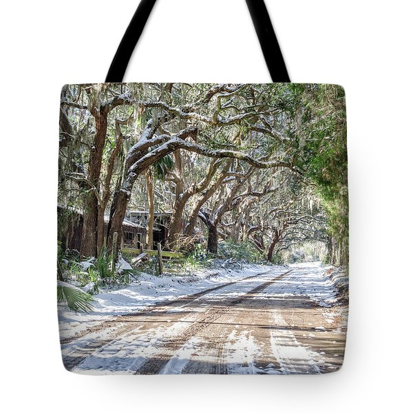 Sheep Farm - Snow Tote Bag