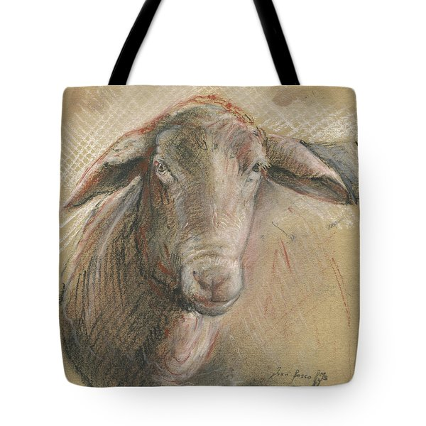 Sheep Head Tote Bag