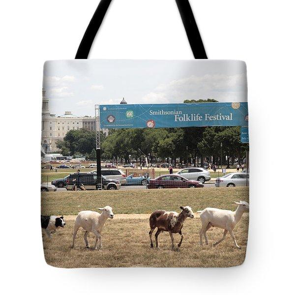 Sheep-herding In Washington Dc Tote Bag