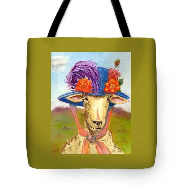 Sheep In Fancy Hat Tote Bag