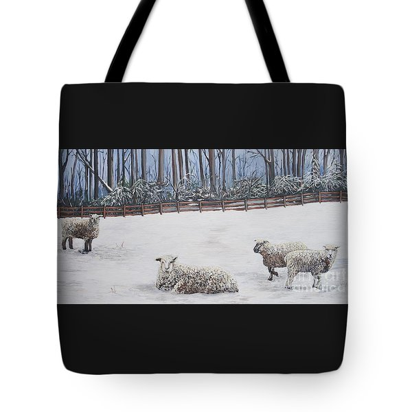 Sheep In Field Tote Bag
