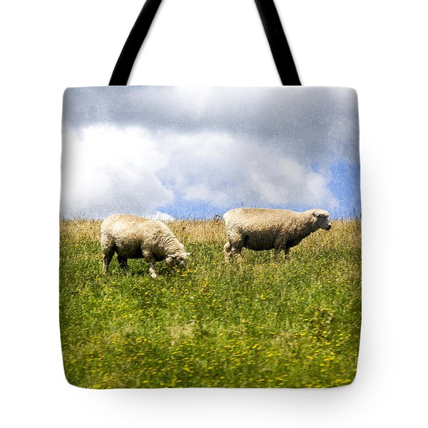 Sheep In New Zealand Tote Bag