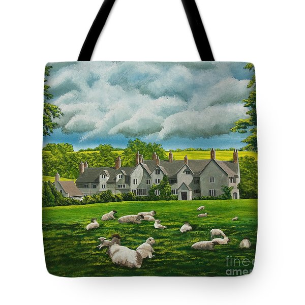 Sheep In Repose Tote Bag by Charlotte Blanchard