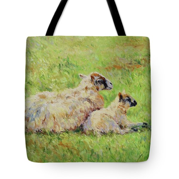 Sheep In The Spring Time,la Vie Est Belle Tote Bag