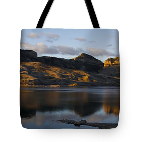 Sheep Mountain Sunrise - Panoramic-signed-12x55 Tote Bag