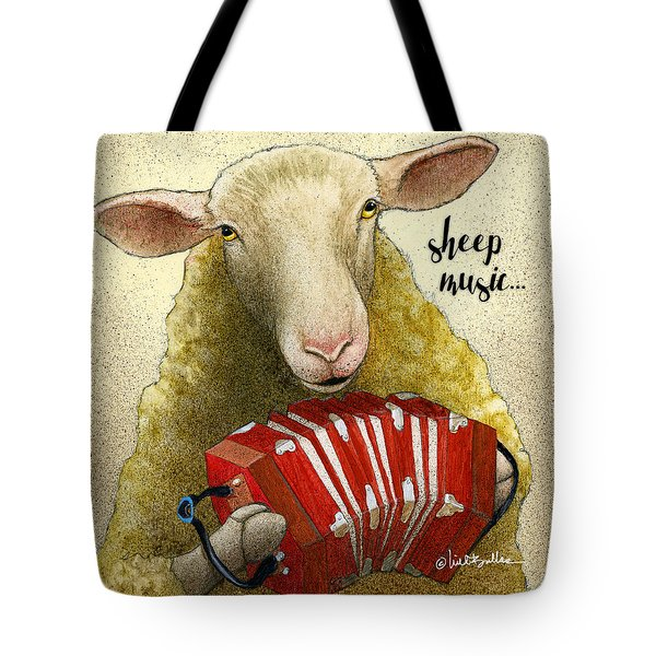 Sheep Music... Tote Bag
