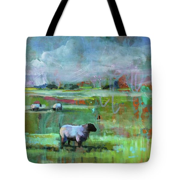Sheep Of His Field Tote Bag