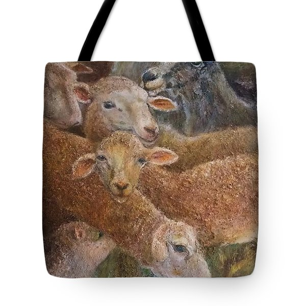 Sheep With Goats Tote Bag