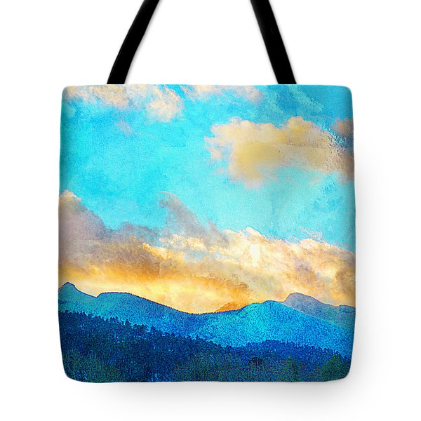 Sheeps Head And Truchas Peaks-predawn December Tote Bag