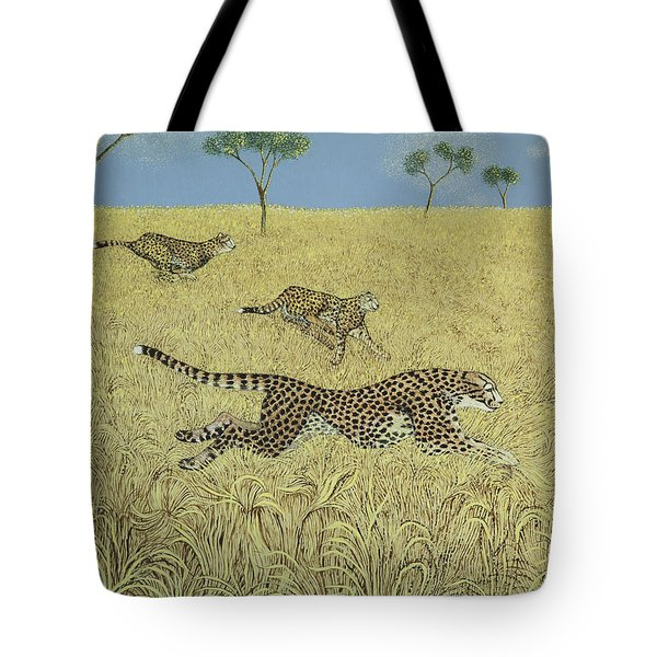 Sheer Speed Tote Bag by Pat Scott