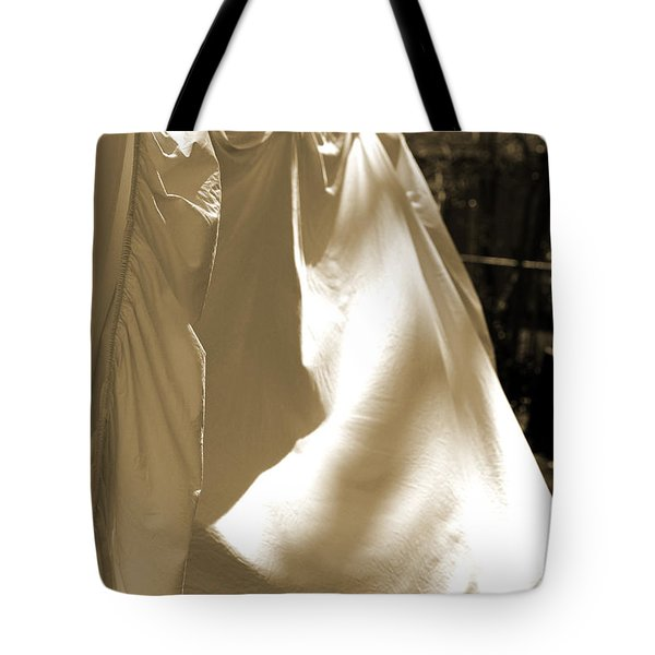 Sheets On The Line Tote Bag