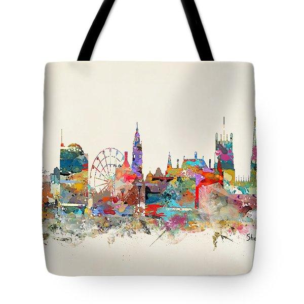 Sheffield England Skyline Tote Bag
