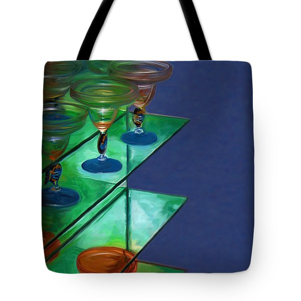 Tote Bag featuring the digital art Sheilas Margaritas by Holly Ethan