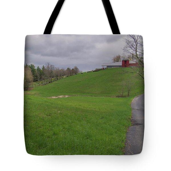 Shelburne Country Road Tote Bag by Tom Singleton