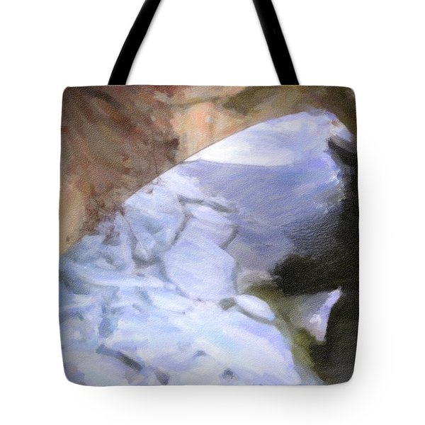 Shelburne Falls River Ice Tote Bag