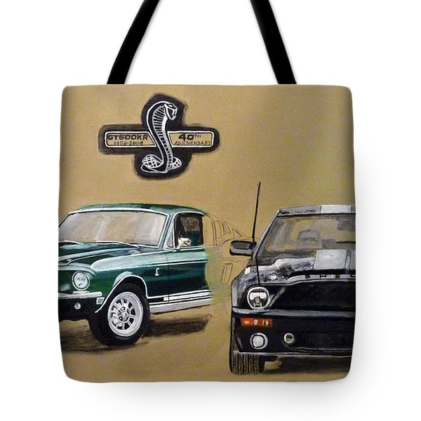 Tote Bag featuring the painting Shelby 40th Anniversary by Richard Le Page