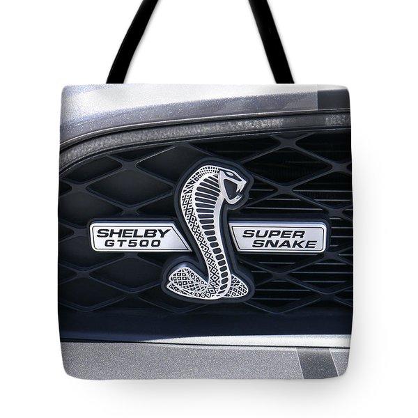 Shelby Gt 500 Super Snake Tote Bag